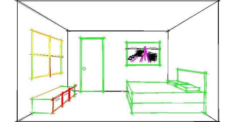名师专栏:autocad分享-一点透视室内图